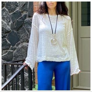 Tops - White Long-sleeve Top